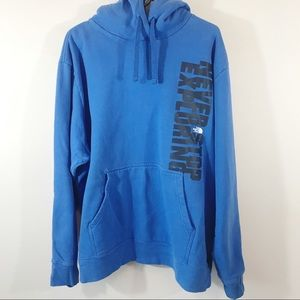 North Face Hoodie, Blue, XXL